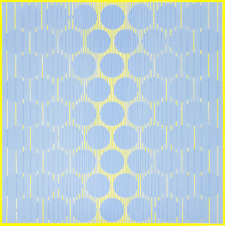Yellow One 1970 Limited Edition Print - Julian Stanczak