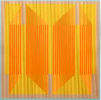 Emerging Orange 1970 Limited Edition Print - Julian Stanczak