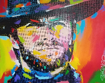 Clint Eastwood 1994 41x51 Original Painting - John Stango