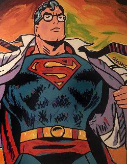 Superman 1990 57x47 Original Painting - John Stango