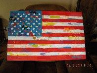 American Flag  2000 33x21 Original Painting by John Stango - 1