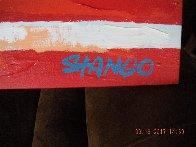 American Flag  2000 33x21 Original Painting by John Stango - 2