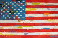 American Flag  2000 33x21 Original Painting by John Stango - 0