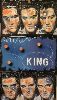 King 1995 54x30 Elvis Original Painting by John Stango - 0