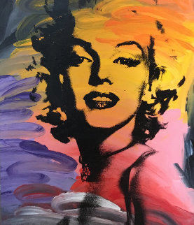Untitled (Marilyn Monroe) 48x40 Original Painting by John Stango