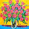 Red Roses 2008 32x33 Original Painting by John Stango - 0
