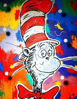 Cat In The Hat 1997 Huge 51x40 Original Painting - John Stango