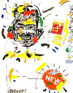 Moe From Pep Boys 1990 45x36 Huge Original Painting - John Stango