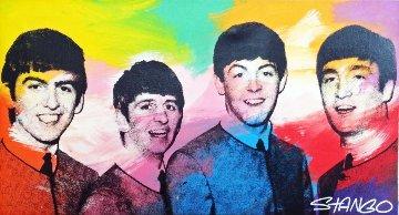 Beatles Unique 24x44 Original Painting - John Stango