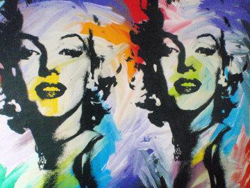 Double Marilyn Monroe 48x68 Original Painting by John Stango