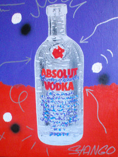 Absolute Vodka 30x23 Original Painting - John Stango