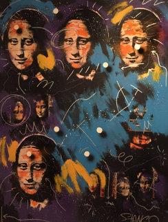Mona Lisa 1996 87x66 Huge Original Painting - John Stango