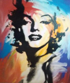 Marilyn Monroe 1997 48x40 Original Painting - John Stango