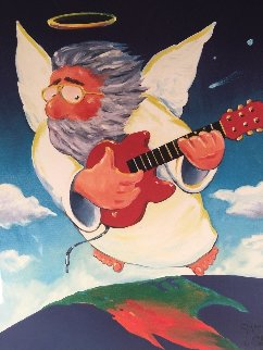 Jerry Angel Unplugged - Jerry Garcia 2002 Limited Edition Print by Stanley Mouse