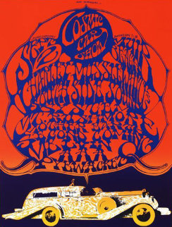 Cosmic Car Show Limited Edition Print by Stanley Mouse