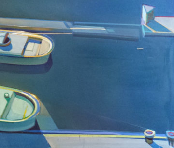 Sunshine Boats - Both Departing 1995  44x49 Original Painting - Raimonds Staprans