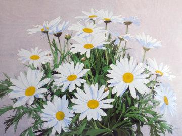 Daisies Watercolor 1975 28x35 Watercolor - Stephen Stavast