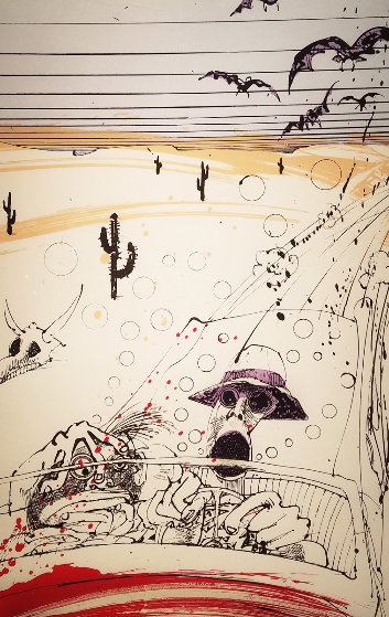 Bats Over Barstow 1994 Limited Edition Print by Ralph Steadman