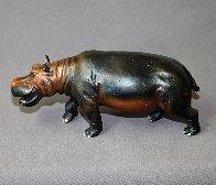 Hippopotamus  Bronze   Sculpture 2016 16 in Sculpture by Barry Stein - 1