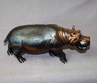 Hippopotamus  Bronze   Sculpture 2016 16 in Sculpture by Barry Stein - 4