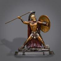 Bronze Spartan Warrior King Leonidas Prepare For Glory Sculpture 2016 26 in Sculpture by Barry Stein - 0