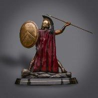 Bronze Spartan Warrior King Leonidas Prepare For Glory Sculpture 2016 26 in Sculpture by Barry Stein - 2