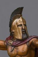 Bronze Spartan Warrior King Leonidas Prepare For Glory Sculpture 2016 26 in Sculpture by Barry Stein - 1