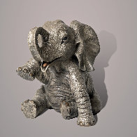 Gaia, The Baby Elephant Bronze Sculpture 2020 9 in Sculpture by Barry Stein - 0