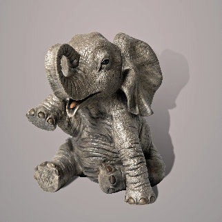 Gaia, The Baby Elephant Bronze Sculpture 2020 9 in Sculpture - Barry Stein