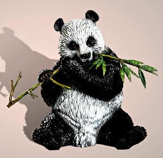 Panda Bronze Sculpture 2020 9 in Sculpture by Barry Stein