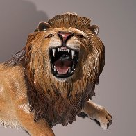 Lion Bronze Sculpture AP 2015 17x12 Sculpture by Barry Stein - 1