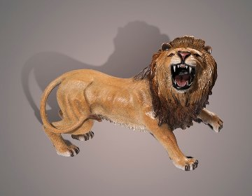 Lion Bronze Sculpture AP 2015 17x12 Sculpture - Barry Stein