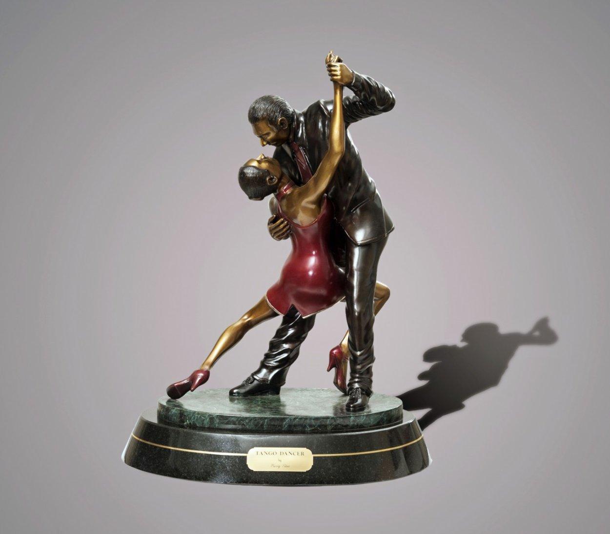 Tango Dancers Bronze Scupture 2015 18 in  Sculpture by Barry Stein