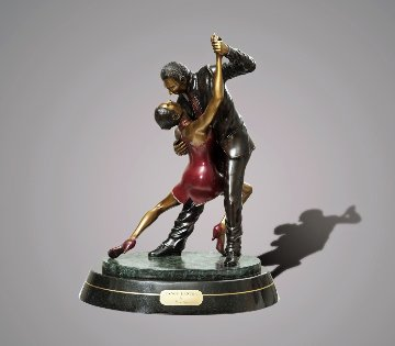 Tango Dancers Bronze Scupture 2015 18 in  Sculpture by Barry Stein