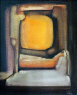 Astre Au Repos 1966 30x24 Original Painting - Stelio Sole