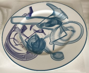Vortex Engraving Charger Ceramic Plate #1-#12   2000 Limited Edition Print - Frank Stella
