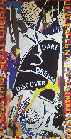 Dare Dream Discover Poster 1991 HS Limited Edition Print by Frank Stella - 2
