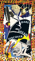 Dare Dream Discover Poster 1991 HS Limited Edition Print by Frank Stella - 0