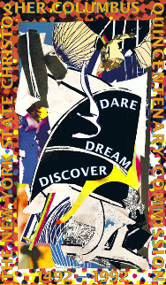 Dare Dream Discover Poster 1991 HS Limited Edition Print by Frank Stella