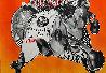 Princeton Wrestling Chiffon Scarf 1997 39 in Other by Frank Stella - 2