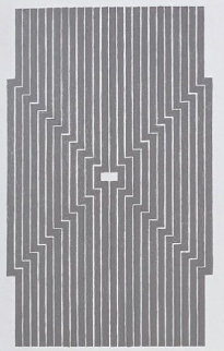 Six Mile Bottom, From the Aluminum Series 1970 Limited Edition Print - Frank Stella
