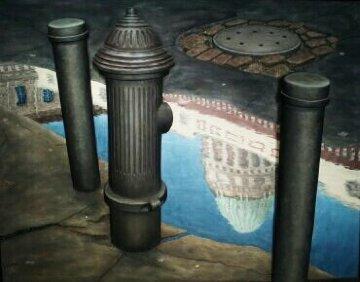 City Hall 1993 26x33 Original Painting - Steven MacGowan
