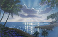 Dolphin Sunrise 2003 33x43 Original Painting - Steven Powers