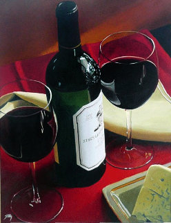 Celebrating the Good Life 2000 40x30 Huge Original Painting - Thomas Stiltz