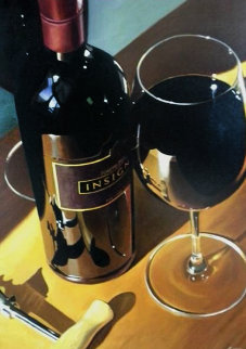 A Big Cabernet 2005 40x30 Original Painting - Thomas Stiltz