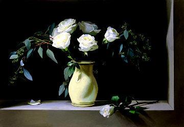 White Grace 2017 32x46 Original Painting by Thomas Stiltz