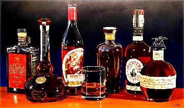 Grand Bourbon Tasting 26x44 Original Painting - Thomas Stiltz