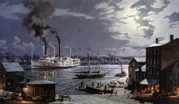 Hartford: City of Hartford - Arriving in 1870  1993 Limited Edition Print by John Stobart