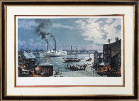 Hartford: City of Hartford - Arriving in 1870  1993 Limited Edition Print by John Stobart - 2