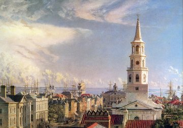 Charleston Over the Rooftops in 1870 Limited Edition Print by John Stobart